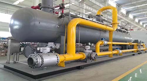 热烈庆祝航天泵阀100万方天然气一体化集气撬完工